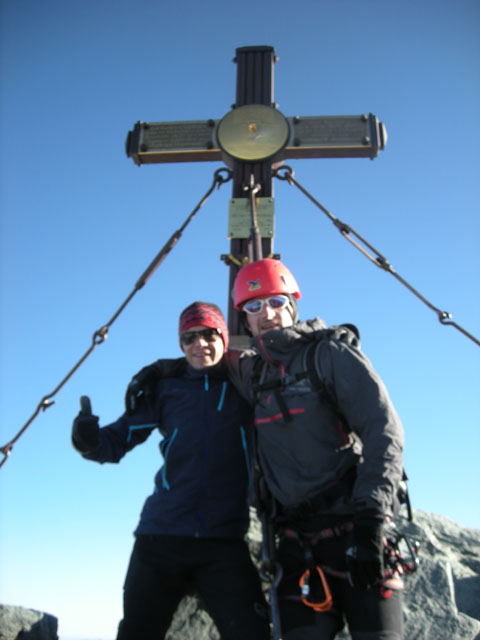 Der höchste Berg Österreichs - der Großglockner mit 3798m.