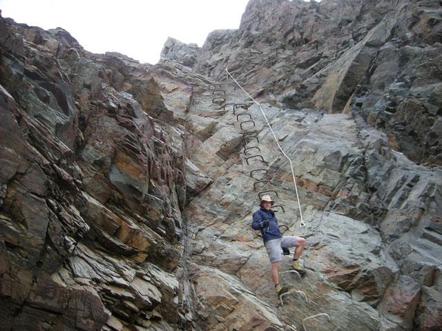 Kurzer Klettersteig zur Hohenwartscharte (3182m).