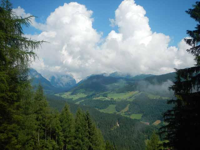 Blick ins Tal auf dem Weg zum Watzmannhaus.