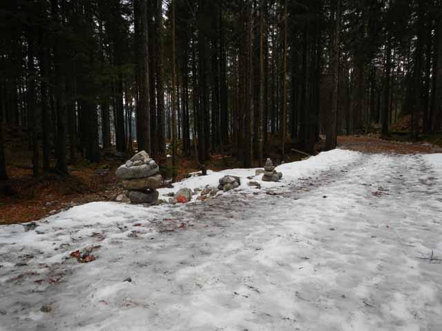 Simetsberg Abstieg Abzweigung