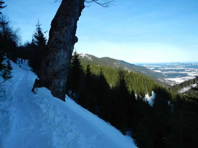 Teufelstättkopf Ausblick während des Aufstiegs
